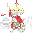 fairytale Cartoon knight in armor vector image