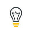stylized sign of lightbulb logotype new idea vector image