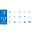 15 package icons vector image vector image