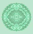 abstract mandala ornament asian pattern green vector image