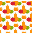 apple background pear textile vector image vector image