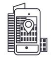 augmented realitycity in smartphone lin vector image