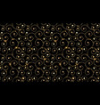 black and gold ornamental pattern abstract modern vector image