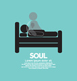 Black Symbol Soul Leaves Body vector image vector image