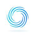blue futuristic circular wave vector image vector image
