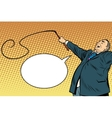 Boss trainer with a whip vector image vector image