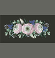 bouquet with delicate ranunculus eucalyptus and vector image vector image