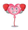 boxing ballon heart character cartoon vector image