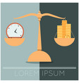 business concept about time and money vector image vector image
