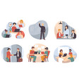 business courses and meetings partners vector image