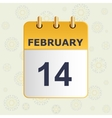 Calendar with snowflakes in gentle tones vector image vector image