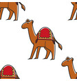 camel animal seamless pattern egyptian symbol vector image