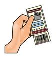 cinema ticket icon vector image vector image