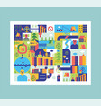 city map abstract town background road and street