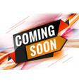 coming soon discount promotional concept template vector image