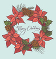 composition with colored cones poinsettia vector image vector image