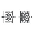 content management line and glyph icon vector image