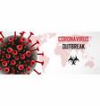 coronavirus 2019-ncov a novel respiratory virus vector image