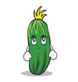 eye roll cucumber character cartoon collection vector image vector image