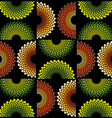 fabric circle pattern vector image vector image