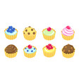 fancy cake different types cakes dessert reward vector image