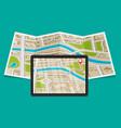 flat gps navigation vector image vector image