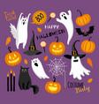flat style halloween vector image vector image