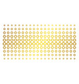 gear gold halftone pattern vector image vector image