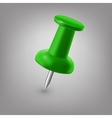 Green push pin isolated vector image vector image