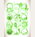 green tea stain on a white background vector image vector image