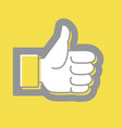 hand thumb up icon in trendy colors 2021 vector image