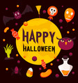 happy halloween day concept background flat style vector image