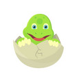 Happy young cartoon turtle just hatch from agg