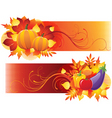 harvest banners vector image vector image