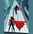 heroine versus villain vector image vector image