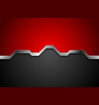 hi-tech abstract red and black background with vector image vector image
