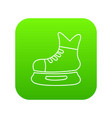 ice hockey skate icon green vector image vector image
