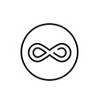 infinity sign - line design single isolated icon vector image vector image