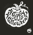 Isolated pumpkin Happy Halloween brush lettering vector image vector image