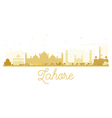Lahore City skyline golden silhouette vector image vector image