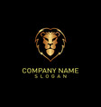 lion logo 2 black background vector image vector image