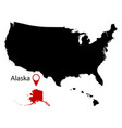 map of the us state of alaska vector image vector image