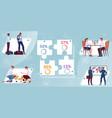 migrant workers infographics vector image vector image