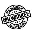 milwaukee black round grunge stamp vector image vector image