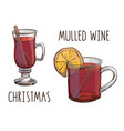 mulled wine set colorful images and vector image vector image
