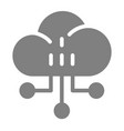 network solid icon cloud vector image vector image