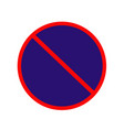 no parking stopoing anytime sign no parking vector image vector image