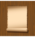 old paper wooden vector image vector image