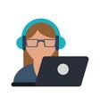 online customer service vector image vector image