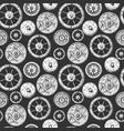 pattern with wheel vector image vector image
